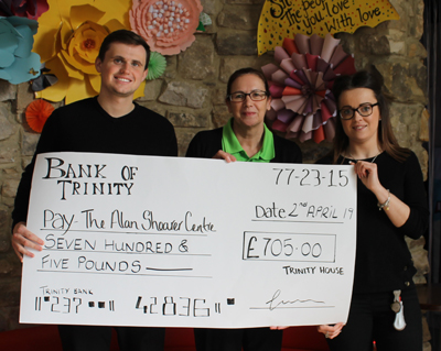Big cheque … big donation